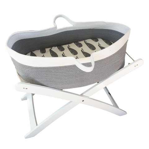 Stand for Moses Basket : White Nursery Ecosprout