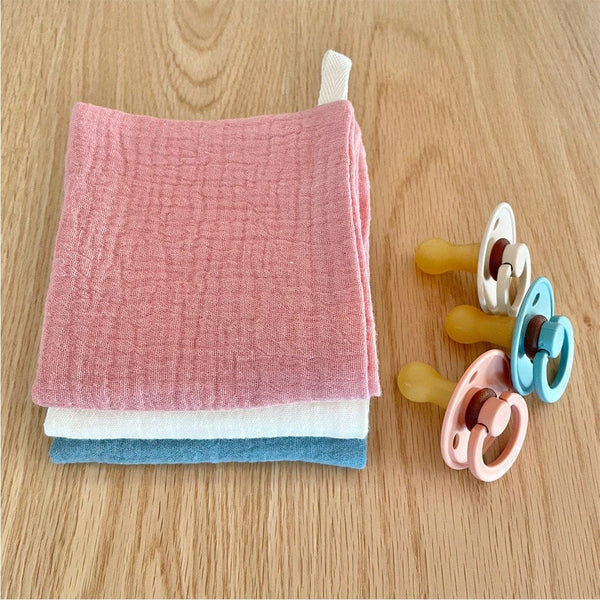 Muslin Cloths 3pk: Rose Multi Baby Care Ecosprout