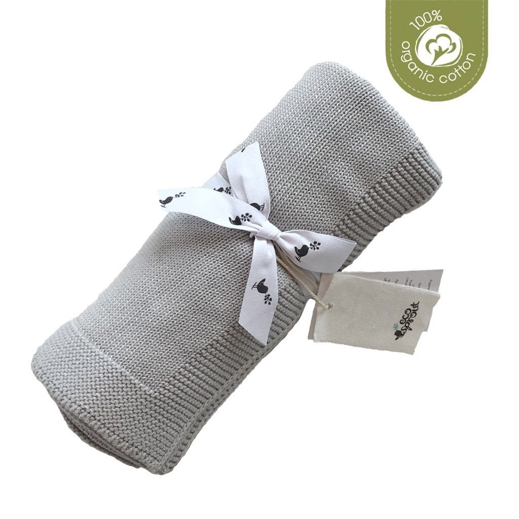 Organic Cotton Sweet Dreams Cot Blanket : Dove Grey