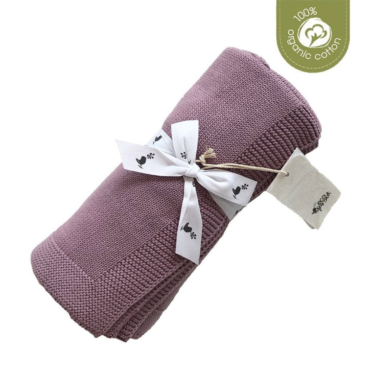 Organic Cotton Sweet Dreams Baby Blanket : Rose