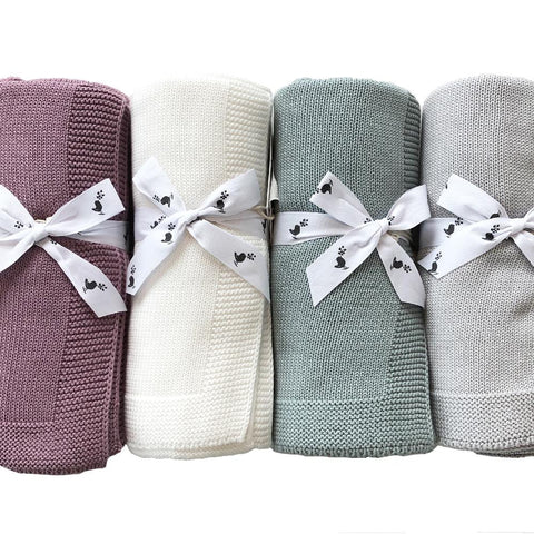 Organic Cotton Sweet Dreams Baby Blanket : Natural
