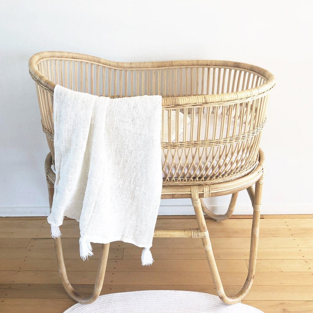 Bundle | Rattan Bassinet: Malawi (Pre-order: End March Delivery) Nursery Ecosprout