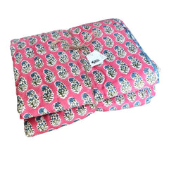 Reversible Playmat : Magenta Sprig Quilt Ecosprout