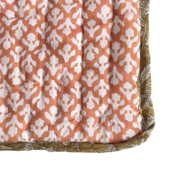Reversible Cot Quilt : Nutmeg Ochre Quilt Ecosprout