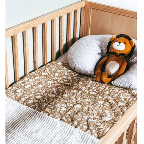 Reversible Cot Quilt: Ochre Quilt Ecosprout