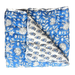 Reversible Playmat : Royal Blue Batik Quilt Ecosprout