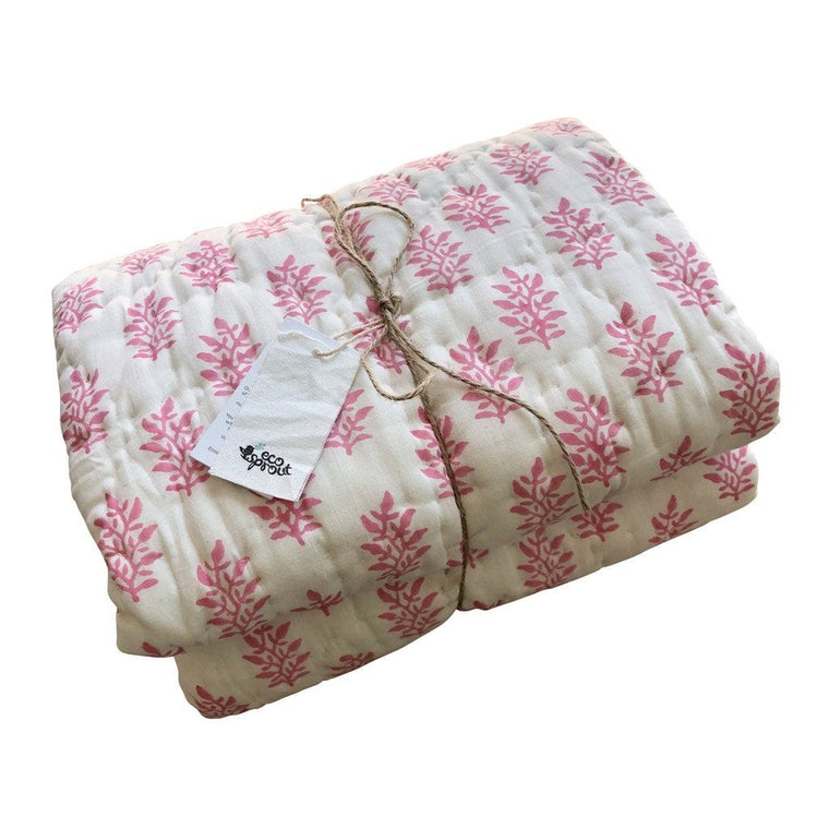 Reversible Cot Quilt : Watermelon