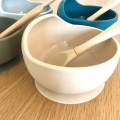 Silicone Bowl and Spoon Set : Olive Feeding and Nursing Ecosprout