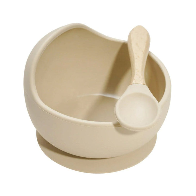 Silicone Bowl and Spoon Set : Sea Shell