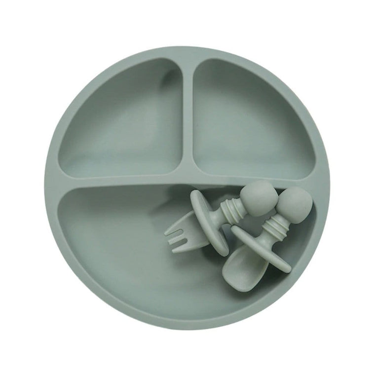 Divided Silicone Plate Set : Sage