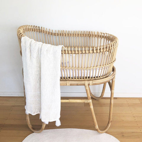 Rattan Bassinet : Sweet Dreams (Pre-Order Now! Due July TBC) Nursery Ecosprout