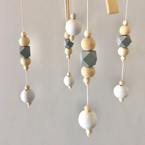 Nordic Style Wooden Baby Mobile : Grey Wallhangings Ecosprout