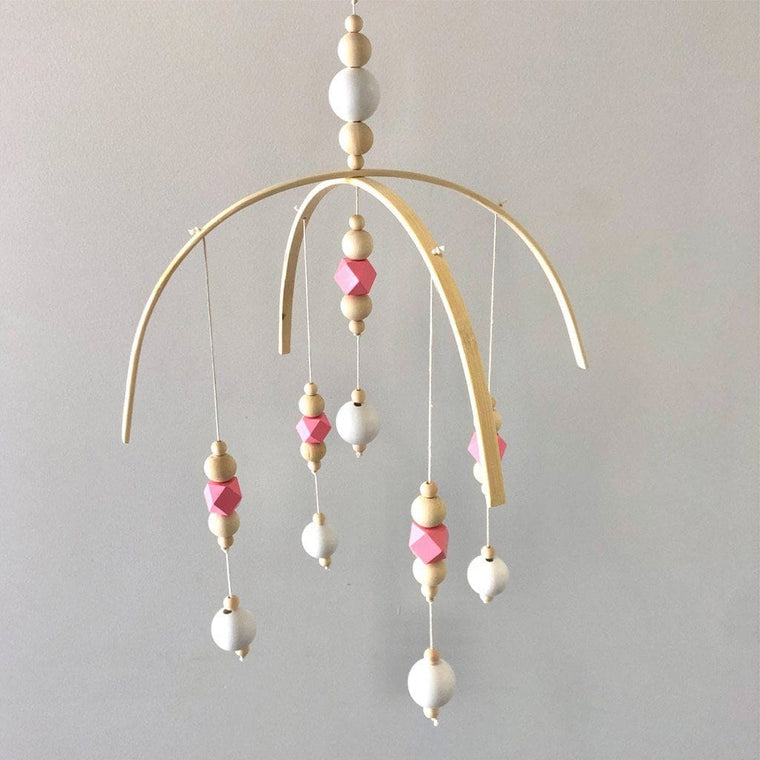 Beaded Baby Mobile : Pink