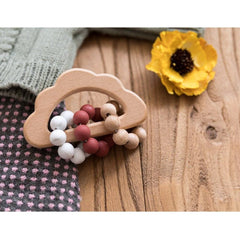 Wooden Cloud Teether Rattle : Nutmeg Teether Ecosprout