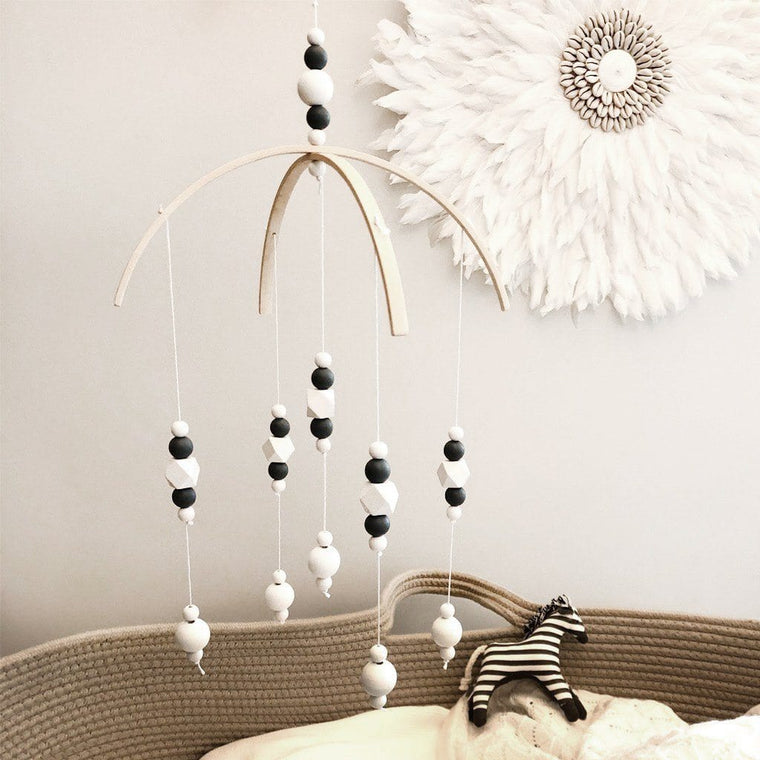 Nordic Style Wooden Baby Mobile : Slate