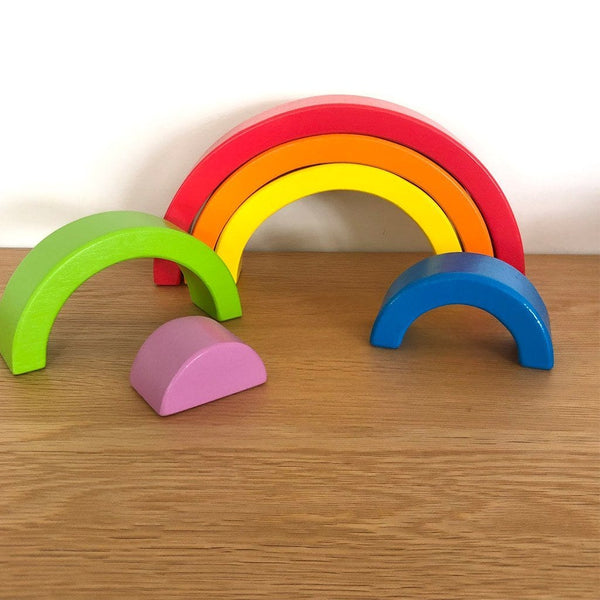 Wooden Rainbow Puzzle : Bright Toys Ecosprout