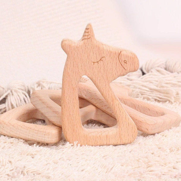 Wooden Playgym Toy and Teether: Unicorn Toys Ecosprout