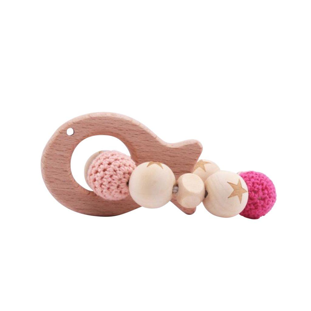 Wooden Teether Ring : Fish Teether Ecosprout