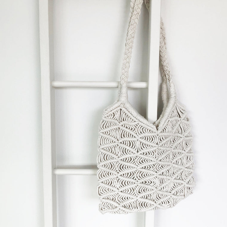 Hand Crocheted Plaited Shoulder Bag