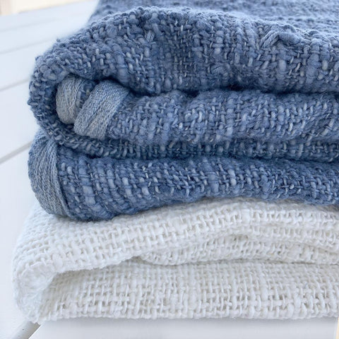 Handwoven Cotton Baby Blanket : Denim Blanket Ecosprout