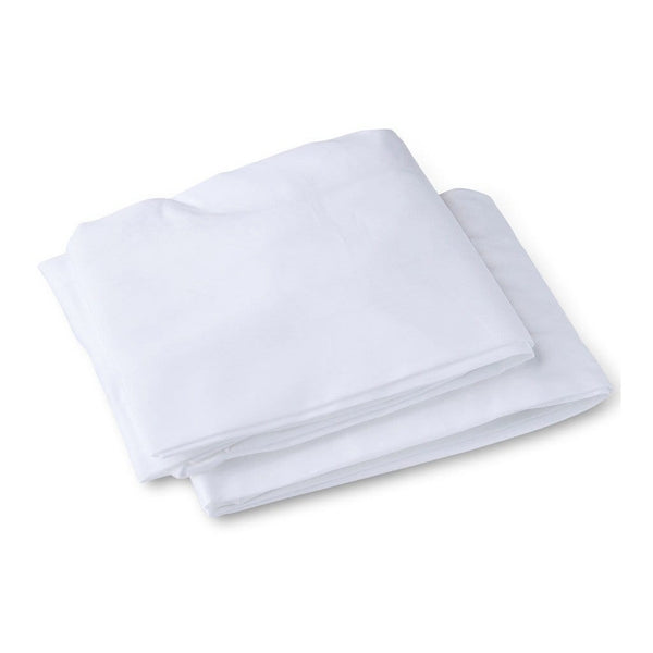 Organic Cotton Bassinet Fitted Sheets 2 Pack in White - Folded