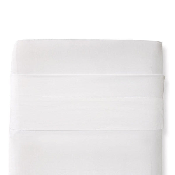 Organic Cotton Bassinet Sheet Set in White - Display