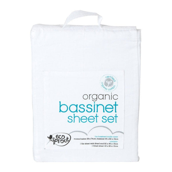 Ecosprout Organic Cotton Bassinet Sheet Set