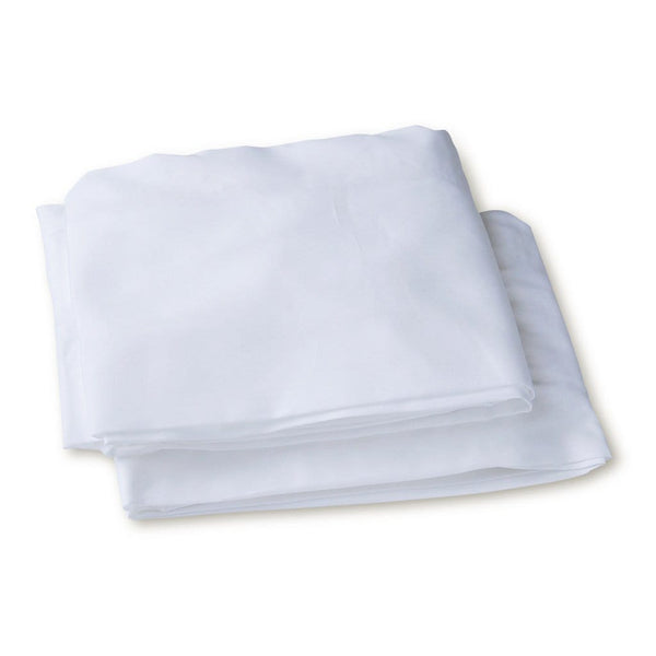 Organic Cotton Cot Fitted Sheets 2 Pack in White - Folded