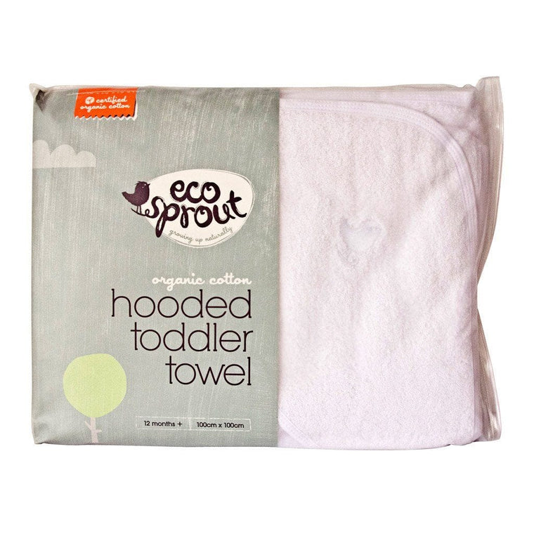 Ecosprout Organic Hooded Toddler Towels - 1 Pack