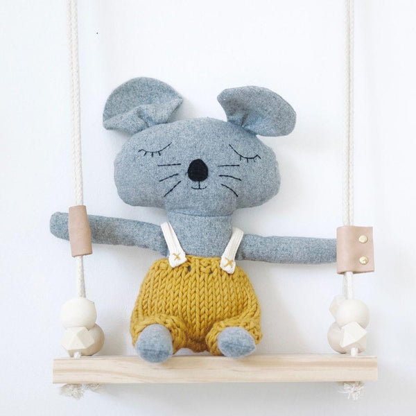 Charlie Mouse - handmade felted wool toy Toys and the little dog laughed