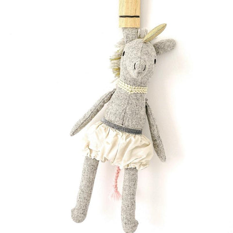 Alice Unicorn - handmade felted wool toy