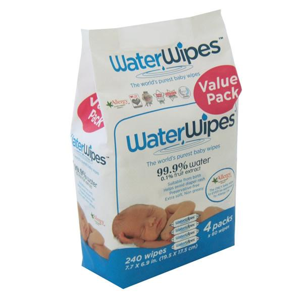 WaterWipes - 4 Pack 240 wipes - Ecosprout - New Zealand
