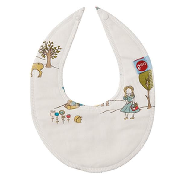 Goo Organic Cotton Dribble Bib - Field Stroll - Ecosprout - New Zealand