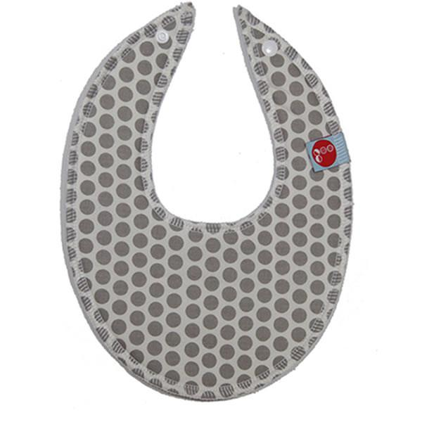 Goo Organic Cotton Dribble Bib - Honeycomb Grey