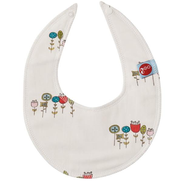 Goo Organic Cotton Dribble Bib - Wildflowers - Ecosprout - New Zealand