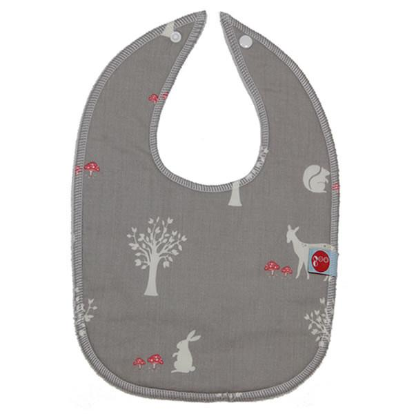 Goo Organic Cotton Baby Bib - Field Friends Mushroom