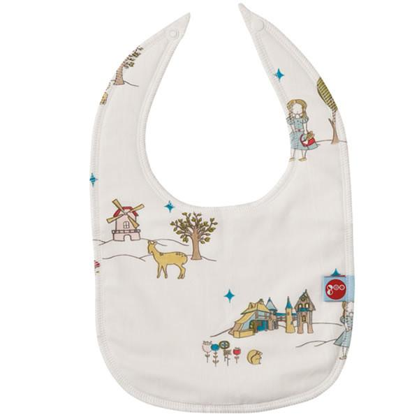 Goo Organic Cotton Baby Bib - Field Stroll - Ecosprout - New Zealand