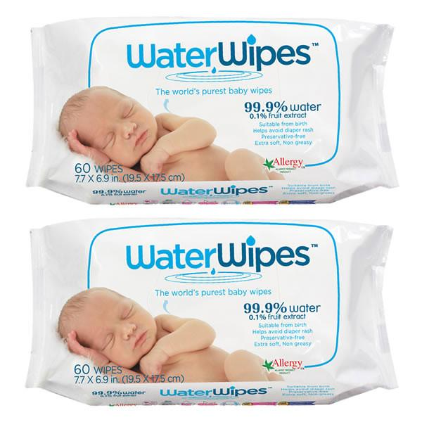 WaterWipes - 2 Pack 120 wipes - Ecosprout - New Zealand