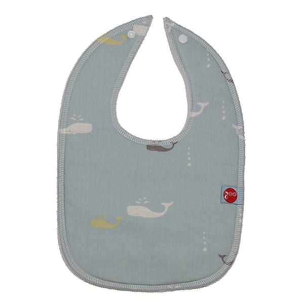 Goo Organic Cotton Baby Bib - Whale Watching Sky