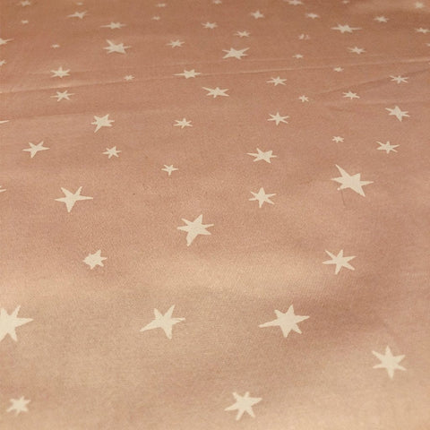 Organic Cotton Fitted Cot Sheets - Clear Skies/Starry Night Pink Sheet Goo