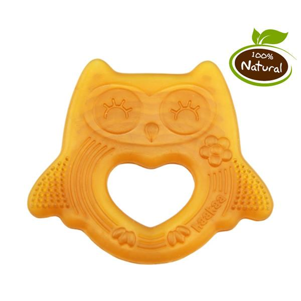 Haakaa Natural Rubber Teether - Smiling Owl - Ecosprout - New Zealand