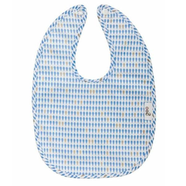 Goo Organic Cotton Baby Bib - Harlequin Blue - Ecosprout - New Zealand