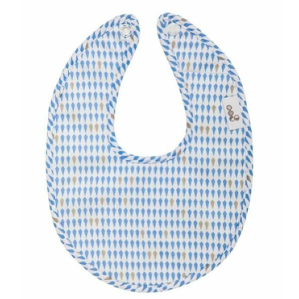 Goo Organic Cotton Dribble Bib - Harlequin Blue