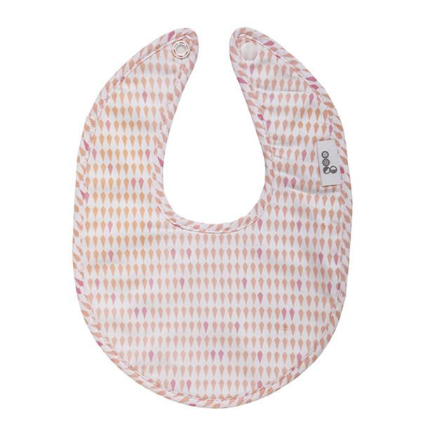 Goo Organic Cotton Dribble Bib - Harlequin Pink - Ecosprout - New Zealand