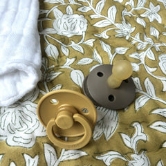 BIBS Pacifier 2Pk Size 1 : Mustard Nursing and Feeding BIBS Denmark