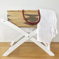 Handwoven Cotton Baby Blanket : Natural
