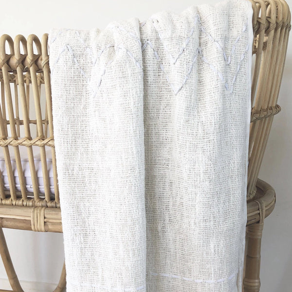 Handwoven Cotton Baby Blanket : Natural Blanket Ecosprout