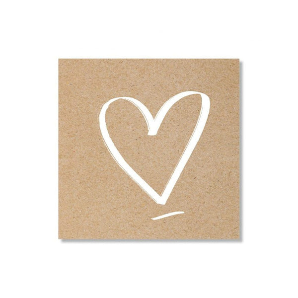 Mini Gift Cards with Personal Message Gift Card Just Smitten Natural with White Heart
