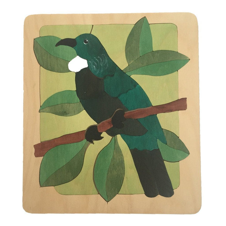 Tui in the Bush Puzzle - Kiwi Made Toys