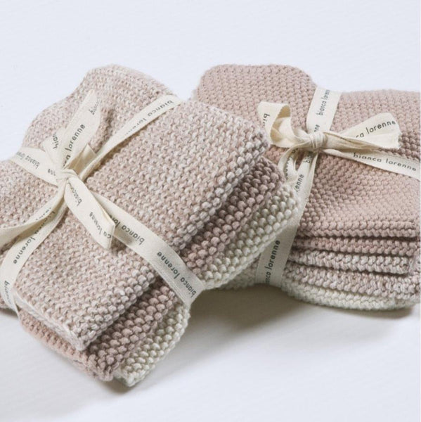 Bianca Lorenne Lavette Washcloths (Set of 3): Petal